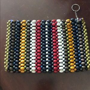 Vintage beaded clutch/make up bag